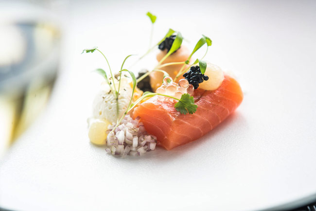 Ballotine of salmon by Dan Moon at The Gainsborough Bath Spa