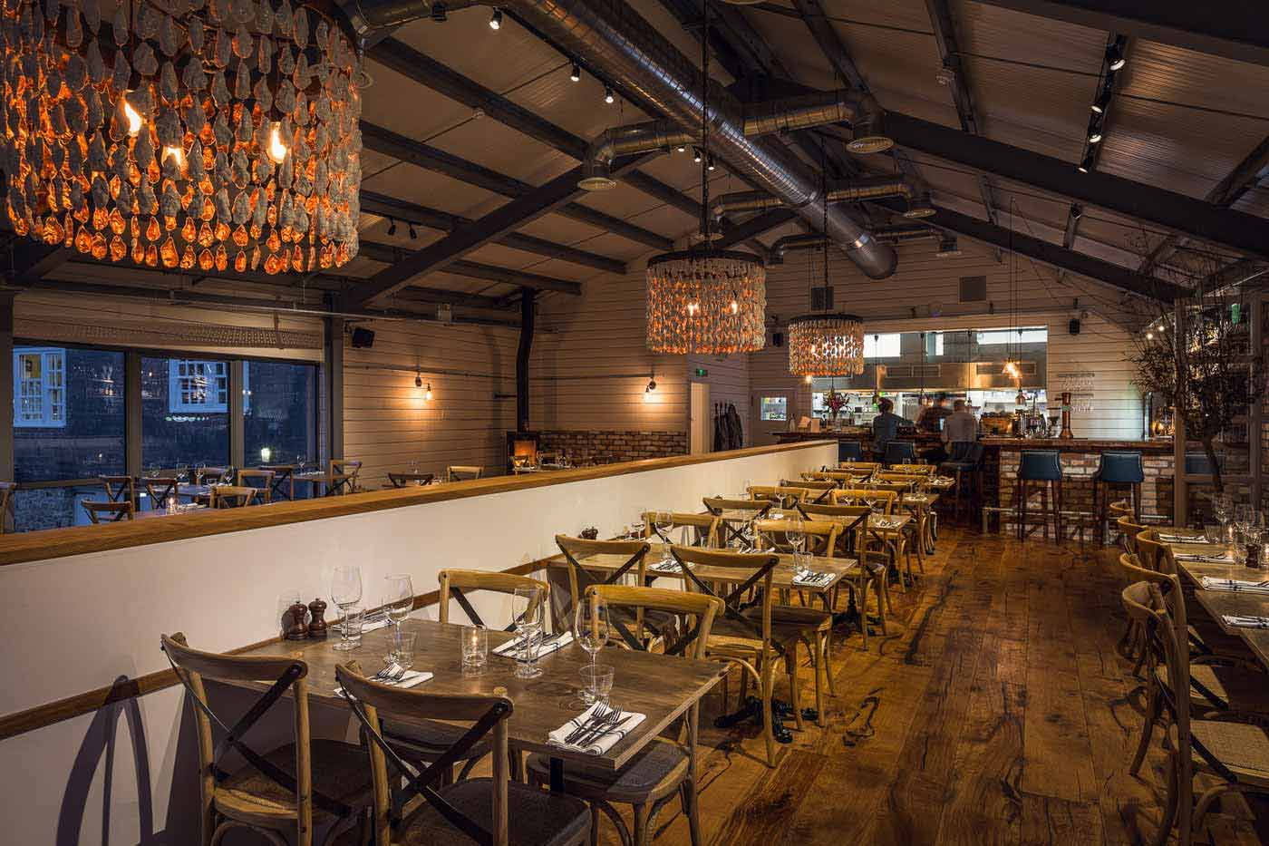 Family-friendly dining at The Longstore, Charlestown, Cornwall