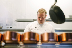 Head chef of Acleaf, Scott Paton, Boringdon Hall, Plymouth