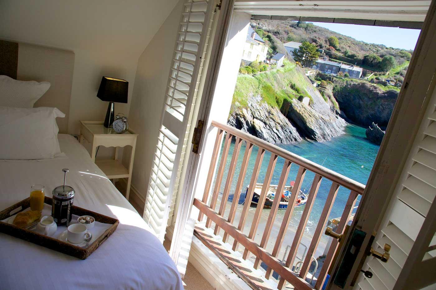 The Lugger, Truro bedroom sea views