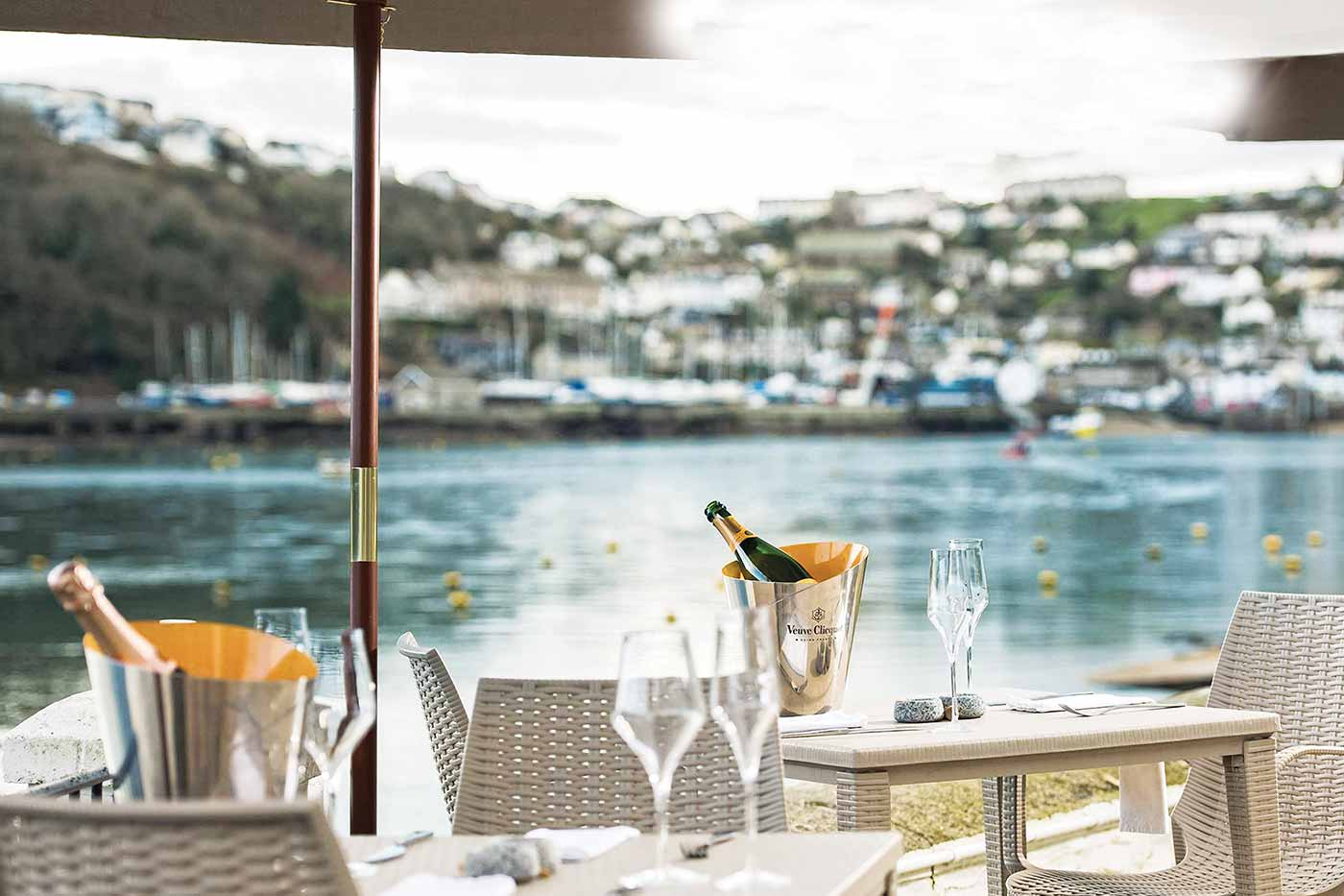 Old Quay House Hotel, alfresco dining