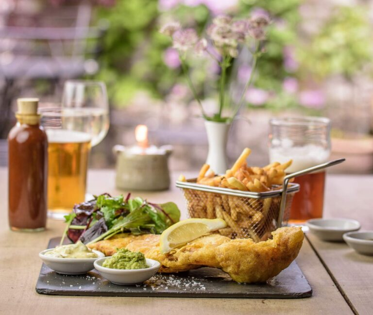 The Horse, Dartmoor, Devon fish and chips